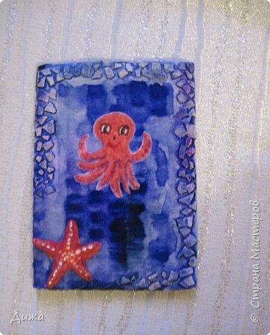 """Привееет всем!!! Представляю вам свои первые АТС карточки """"Морские обитатели"""" фото 5"""