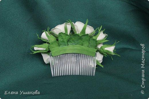 Повязки и брошки с цветами Прострел луговой и бабочки))) фото 5