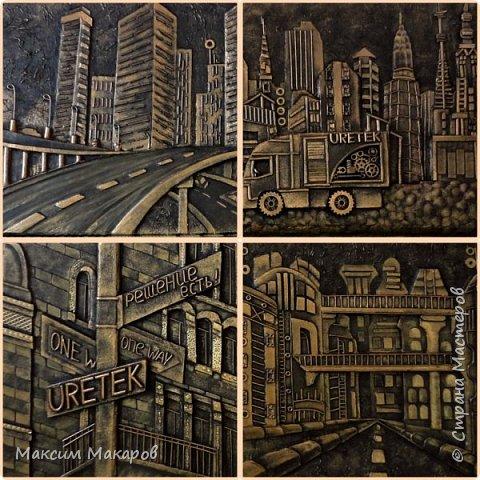 Это четыре картины выполнены на заказ для одной Московской строительной фирмы.  фото 1