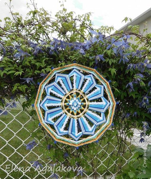 """Лето, лето к нам пришло!  Стало сухо и тепло. ... Летнее настроение рождает солнечные, цветущие работы! Моя новая мандала - """"Расцвет"""" фото 1"""