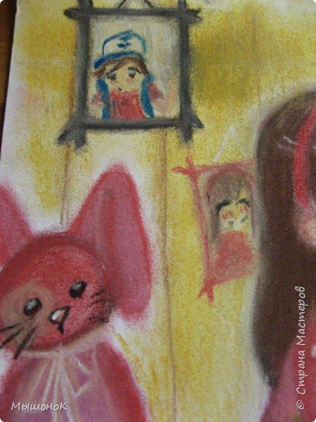 Ну, вот такой рисунок у меня получился!  Рисовала по просьбе младшего братика, который обожает этот мультик. Героев решила нарисовать в стиле аниме, чтоб интереснее было :)))  Рисовала по памяти. картинки не было. Так что за недочеты извиняйте :D  Рисунок выполнен сухой пастелью. фото 6