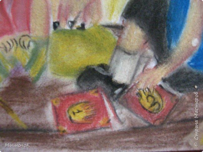Ну, вот такой рисунок у меня получился!  Рисовала по просьбе младшего братика, который обожает этот мультик. Героев решила нарисовать в стиле аниме, чтоб интереснее было :)))  Рисовала по памяти. картинки не было. Так что за недочеты извиняйте :D  Рисунок выполнен сухой пастелью. фото 7