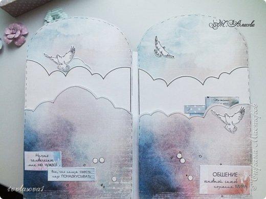 Вот и закончила я детский альбомчик,сделанный по МК Елены Виноградовой. Долго ждал своего часа, и дождался! Самые драгоценные моменты  малыша уютно займут свое место в этом детском именном альбомчике-конверте. фото 3