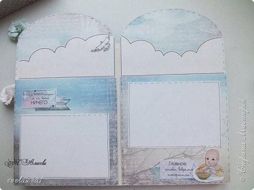 Вот и закончила я детский альбомчик,сделанный по МК Елены Виноградовой. Долго ждал своего часа, и дождался! Самые драгоценные моменты  малыша уютно займут свое место в этом детском именном альбомчике-конверте. фото 5
