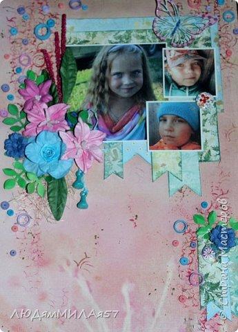 Здравствуйте всем! 1 июня у моей внучки День рождения,захотела в подарок что-нибудь такое,что я ещё не делала никому!?! А не делала я только скрап-страницы и скрап-холсты,решила начать со скрап- страницы........ фото 2