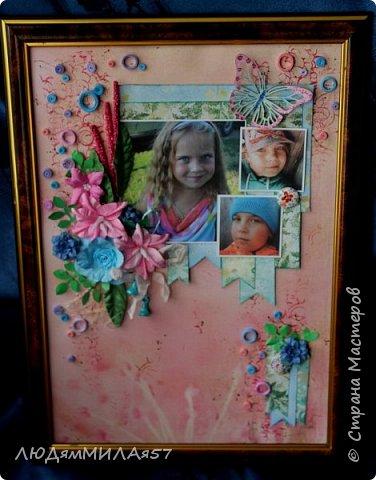 Здравствуйте всем! 1 июня у моей внучки День рождения,захотела в подарок что-нибудь такое,что я ещё не делала никому!?! А не делала я только скрап-страницы и скрап-холсты,решила начать со скрап- страницы........ фото 1