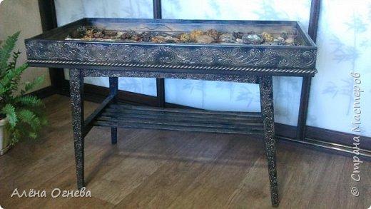 Кофейный столик РЕТРО , стиль ВИНТАЖ . Имитация бронзовой ковки и чугунного литья . фото 6