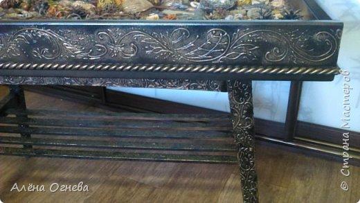 Кофейный столик РЕТРО , стиль ВИНТАЖ . Имитация бронзовой ковки и чугунного литья . фото 5
