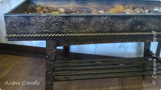 Кофейный столик РЕТРО , стиль ВИНТАЖ . Имитация бронзовой ковки и чугунного литья . фото 4
