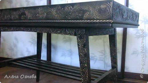 Кофейный столик РЕТРО , стиль ВИНТАЖ . Имитация бронзовой ковки и чугунного литья . фото 3