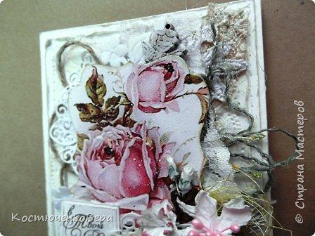 Ещё две открытки получились для души  в свободном стиле. Ближе к шебби походит. фото 3