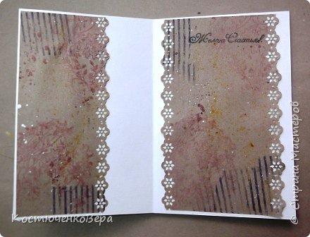 Ещё две открытки получились для души  в свободном стиле. Ближе к шебби походит. фото 10