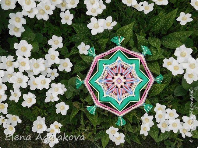 """Лето продолжает радовать солнышком и цветами. Моя новая мандала  """" Цветок"""" фото 3"""