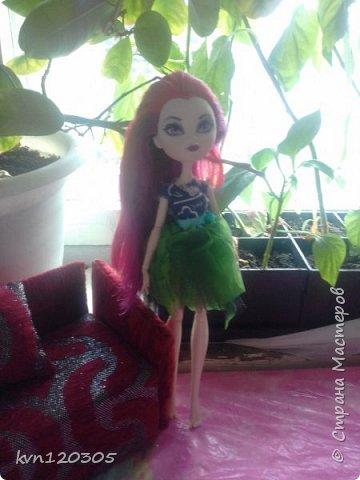 """Приветствую! Вот моя работа на конкурс """"Мисс Июнь"""". Это моя кукла по имени Оксана. Ей 17 лет, она модельер. Оксана очень общительная и добрая. Все наряды она делает себе сама. Этот наряд мечтательной особы она надела сегодня. фото 1"""