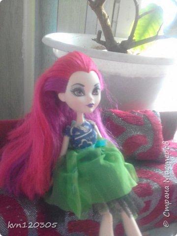 """Приветствую! Вот моя работа на конкурс """"Мисс Июнь"""". Это моя кукла по имени Оксана. Ей 17 лет, она модельер. Оксана очень общительная и добрая. Все наряды она делает себе сама. Этот наряд мечтательной особы она надела сегодня. фото 2"""