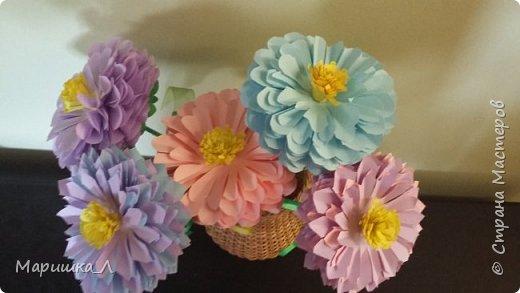 Цветочки из бумаги фото 1