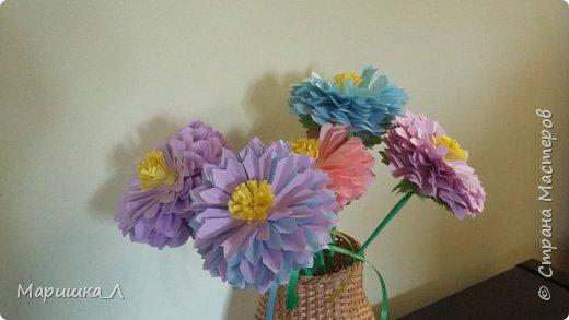 Цветочки из бумаги фото 2