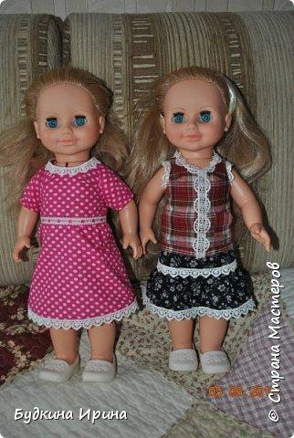 Одежда для куколок. Платьице, юбочка и жилетка фото 1