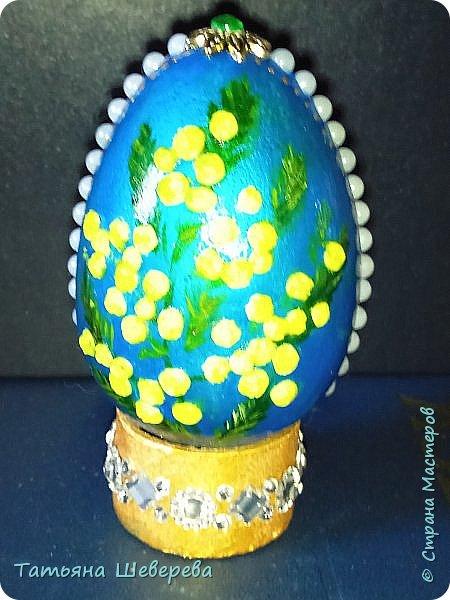 На конкурс пасхальных яиц в школу мы с дитём сделали вот такое: фото 1