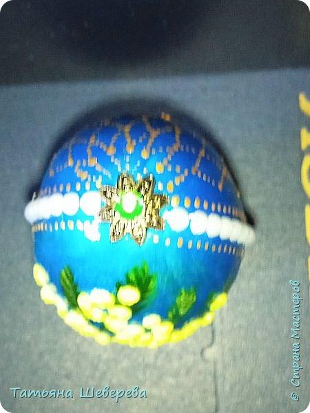 На конкурс пасхальных яиц в школу мы с дитём сделали вот такое: фото 7