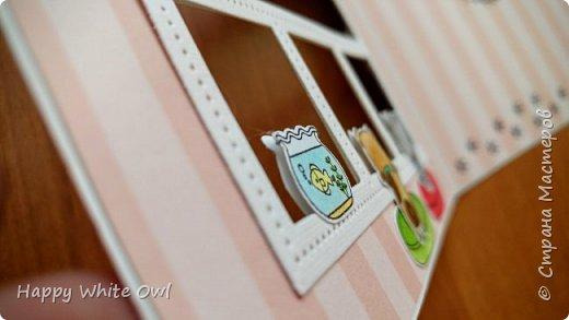 Всем привет! Сегодня хочу поделиться с Вами открыткой с милыми зверушками, смотрящими в окно. фото 5