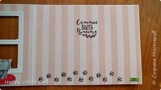 Всем привет! Сегодня хочу поделиться с Вами открыткой с милыми зверушками, смотрящими в окно. фото 6