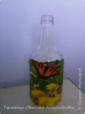 Сегодня  5 июня - Всемирный  день охраны окружающей среды  (День эколога).И  расскажу про   ламинирование пластиковой бутылкой стеклянных баночек ,бутылок ,кувшинов  .Информацию увидела в Интернете и решила попробовать..Вот так у меня вышло. фото 16