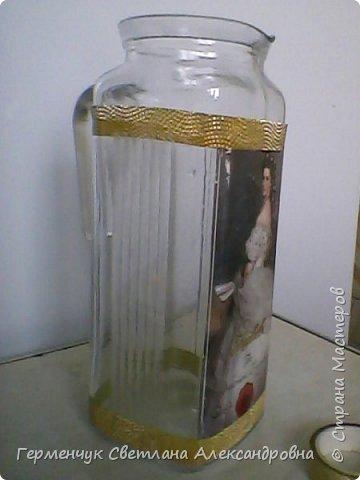 Сегодня  5 июня - Всемирный  день охраны окружающей среды  (День эколога).И  расскажу про   ламинирование пластиковой бутылкой стеклянных баночек ,бутылок ,кувшинов  .Информацию увидела в Интернете и решила попробовать..Вот так у меня вышло. фото 10