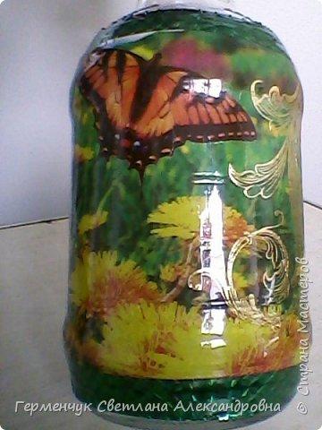 Сегодня  5 июня - Всемирный  день охраны окружающей среды  (День эколога).И  расскажу про   ламинирование пластиковой бутылкой стеклянных баночек ,бутылок ,кувшинов  .Информацию увидела в Интернете и решила попробовать..Вот так у меня вышло. фото 22