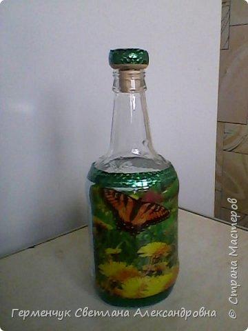 Сегодня  5 июня - Всемирный  день охраны окружающей среды  (День эколога).И  расскажу про   ламинирование пластиковой бутылкой стеклянных баночек ,бутылок ,кувшинов  .Информацию увидела в Интернете и решила попробовать..Вот так у меня вышло. фото 23