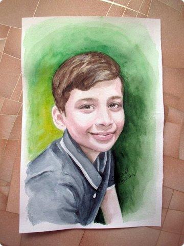 Детский портрет. Акварель. А4. фото 2