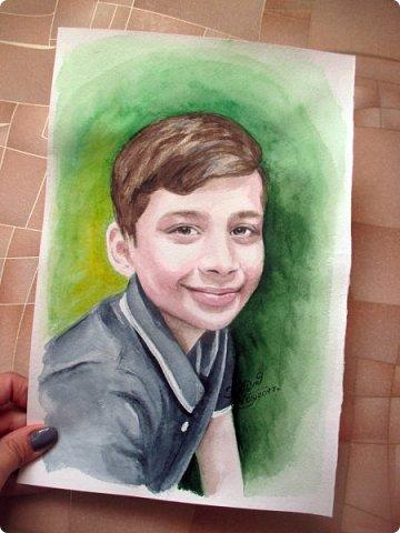 Детский портрет. Акварель. А4. фото 4