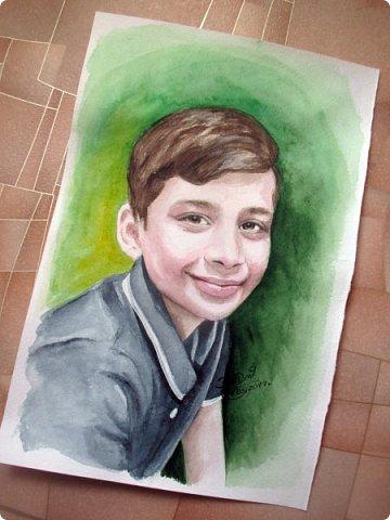 Детский портрет. Акварель. А4. фото 6