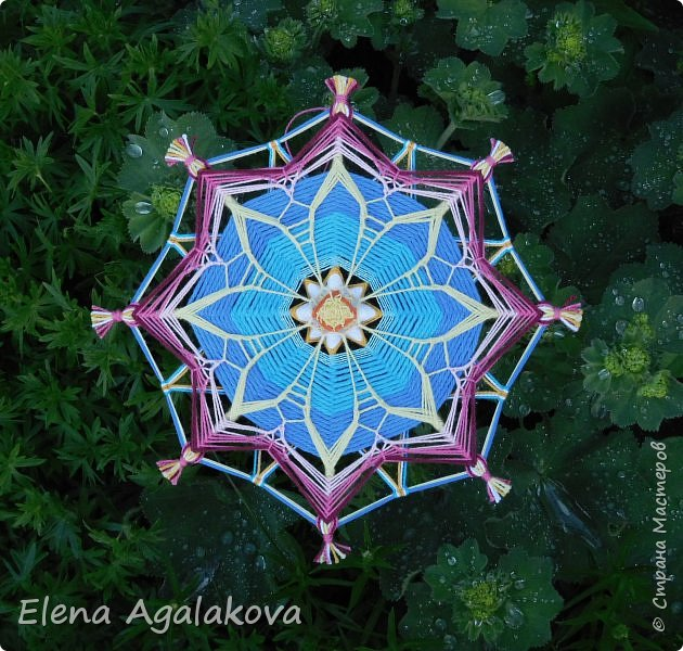 Еще одна мандала-цветок  фото 5