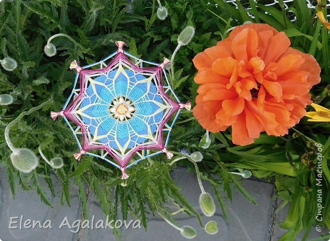 Еще одна мандала-цветок  фото 2