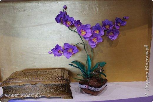 Одиночные орхидейки делала, теперь очередь дошла до цельного цветка. фото 2