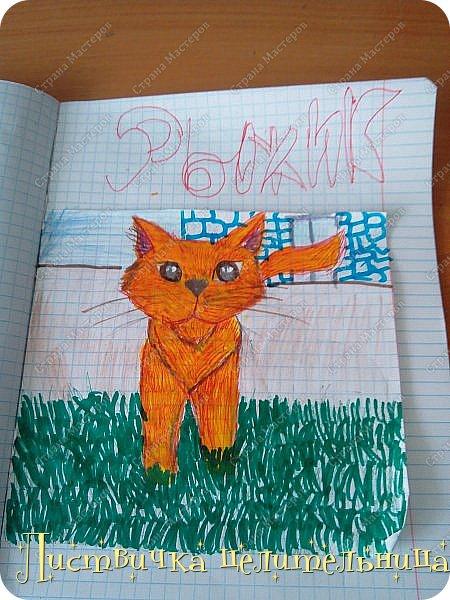 Привет всем! Я на конец то добралась до своих рисунков. Я рисую котов-воителей. Знакомьтесь, это Воробей. фото 6