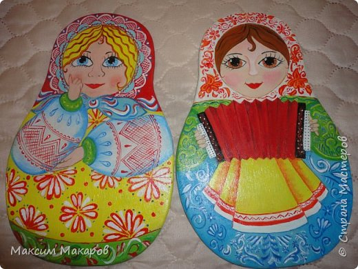 Здравствуйте! А вот еще некоторые работы Моей жены Татьяны, нарисовала она вот такие разделочные досочки, для украшения кухни. фото 3