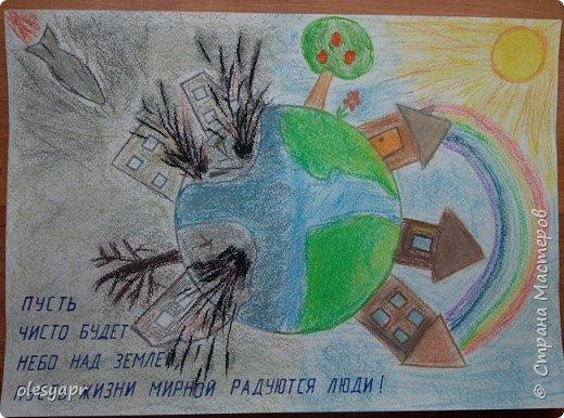 Рисовали с дочкой в школу