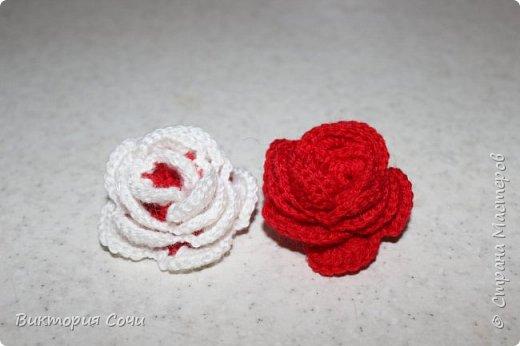Роза это, пожалуй, самый узнаваемый и самый любимый из всех декоративных цветов. И сегодня мы с вами свяжем розу, которая не будет колоться, а будет приносить только радость.Используя эту розу, можно сделать брошь, заколку, браслет и многое другое. фото 2