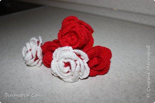 Роза это, пожалуй, самый узнаваемый и самый любимый из всех декоративных цветов. И сегодня мы с вами свяжем розу, которая не будет колоться, а будет приносить только радость.Используя эту розу, можно сделать брошь, заколку, браслет и многое другое. фото 5