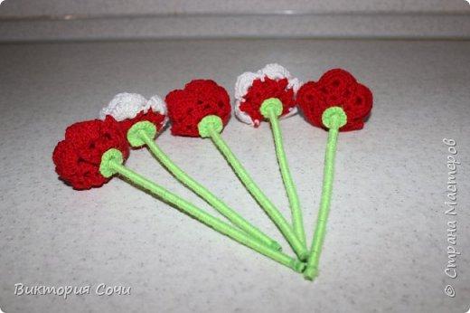Роза это, пожалуй, самый узнаваемый и самый любимый из всех декоративных цветов. И сегодня мы с вами свяжем розу, которая не будет колоться, а будет приносить только радость.Используя эту розу, можно сделать брошь, заколку, браслет и многое другое. фото 7