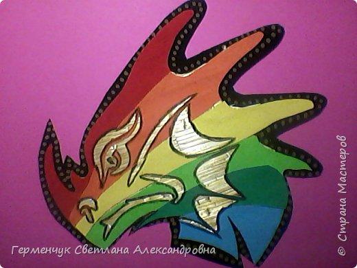 Дракон из соломки и бархатной бумаги фото 4