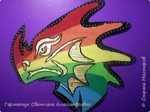 Дракон из соломки и бархатной бумаги фото 5