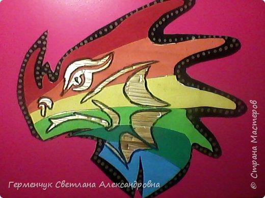 Дракон из соломки и бархатной бумаги фото 8