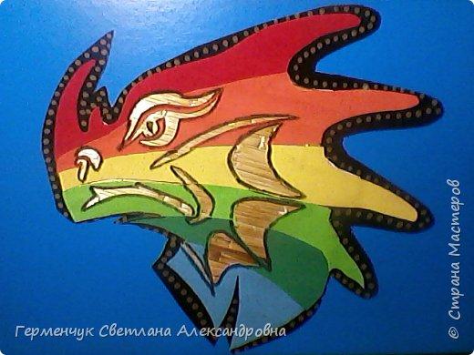 Дракон из соломки и бархатной бумаги фото 11