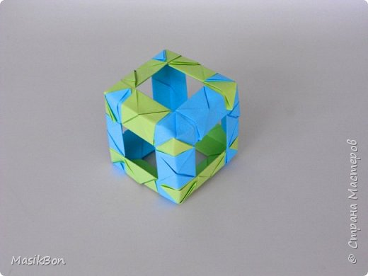 Оригами кубик из бумаги. Как сделать куб