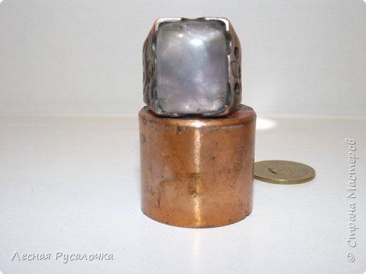 Мужской перстень изготовлен  из меди , камень аметист   . фото 2