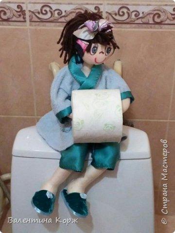 Кукла-держатель туалетной бумаги фото 20