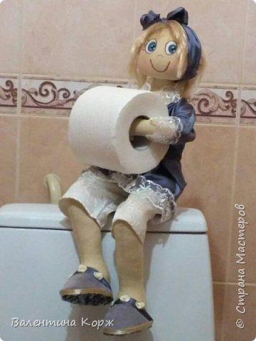 Кукла-держатель туалетной бумаги фото 17